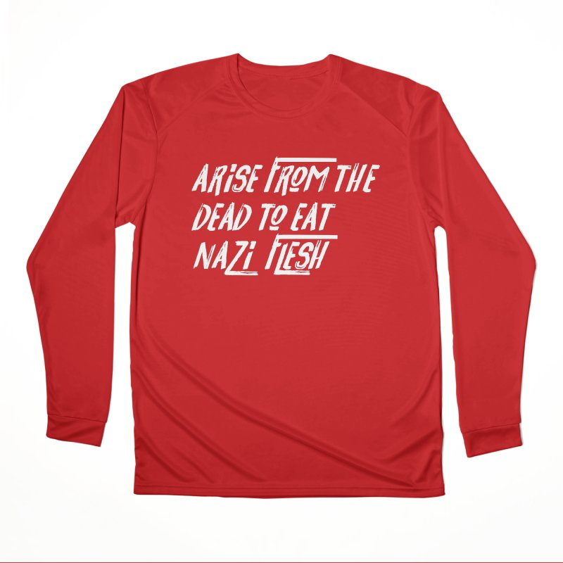 EAT NAZI FLESH Women's Performance Unisex Longsleeve T-Shirt by VOID MERCH