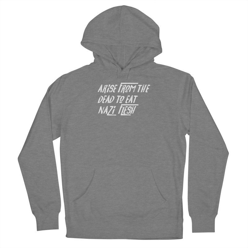 EAT NAZI FLESH Women's French Terry Pullover Hoody by VOID MERCH