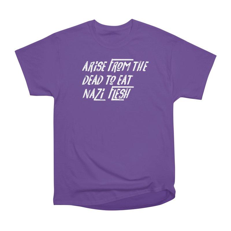 EAT NAZI FLESH Women's Heavyweight Unisex T-Shirt by VOID MERCH
