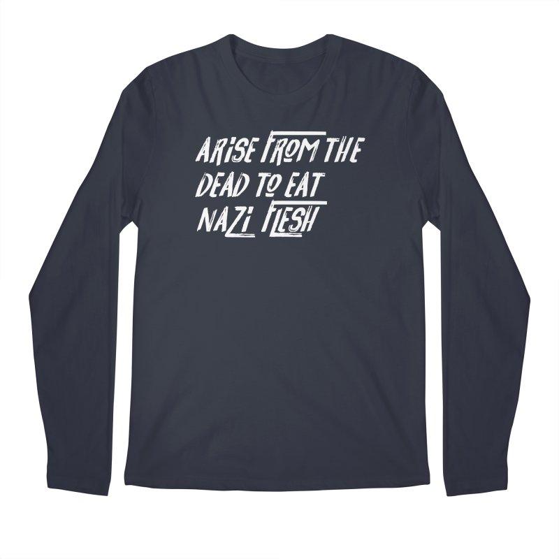 EAT NAZI FLESH Men's Regular Longsleeve T-Shirt by VOID MERCH