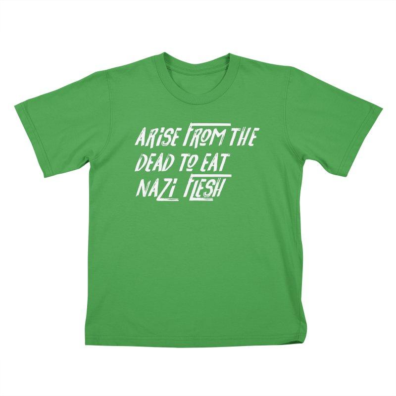 EAT NAZI FLESH Kids T-Shirt by VOID MERCH