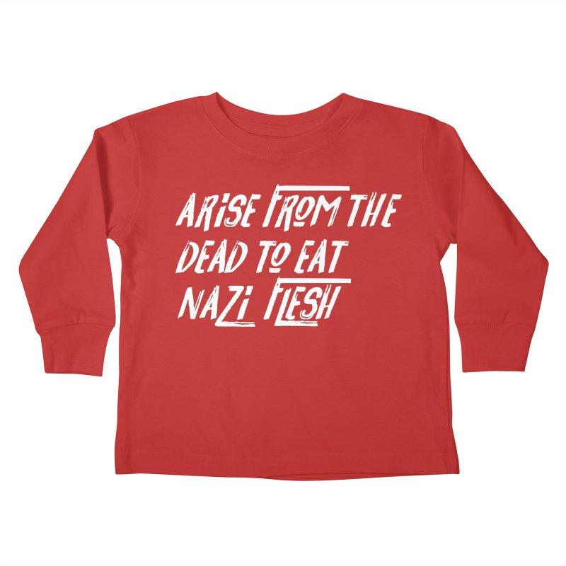 EAT NAZI FLESH Kids Toddler Longsleeve T-Shirt by VOID MERCH
