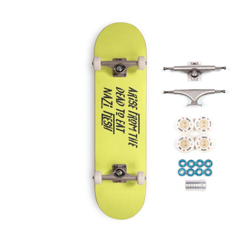 EAT NAZI FLESH Accessories Complete - Premium Skateboard by VOID MERCH