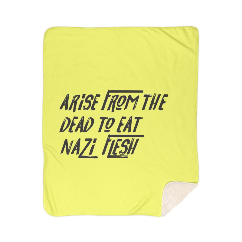 EAT NAZI FLESH Home Sherpa Blanket Blanket by VOID MERCH