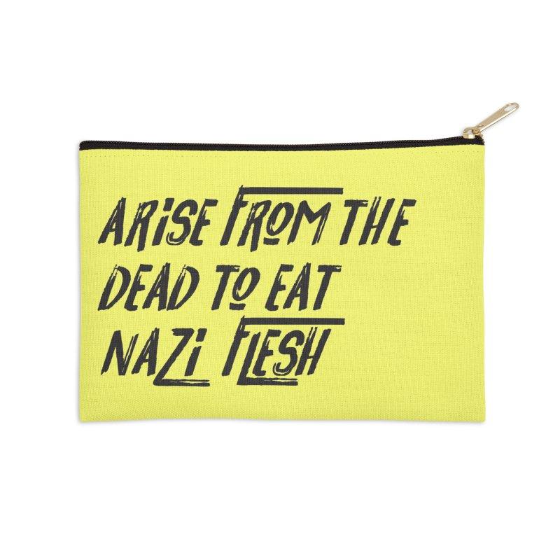 EAT NAZI FLESH Accessories Zip Pouch by VOID MERCH