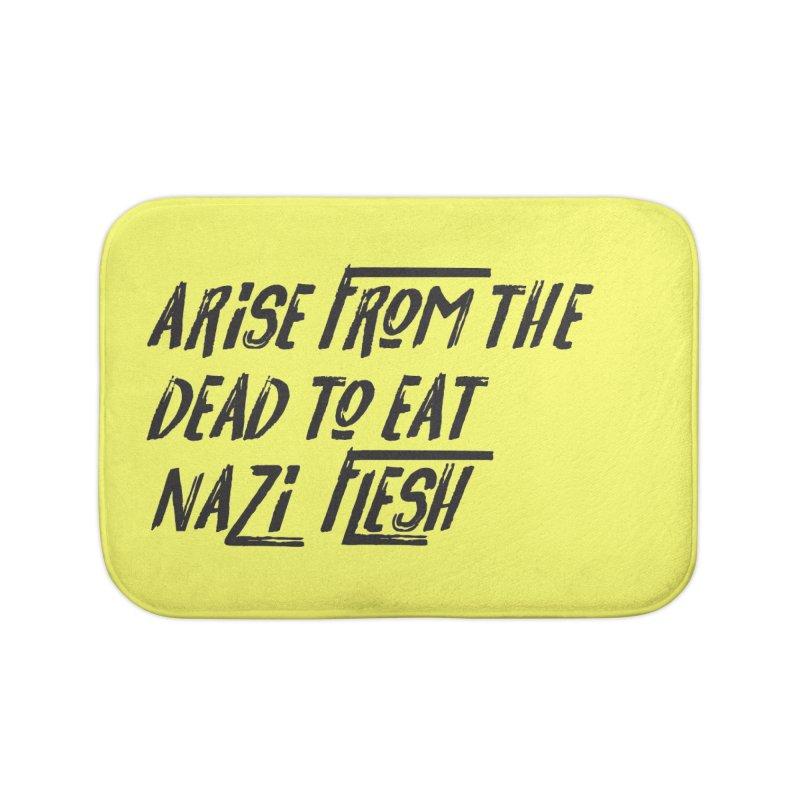 EAT NAZI FLESH Home Bath Mat by VOID MERCH