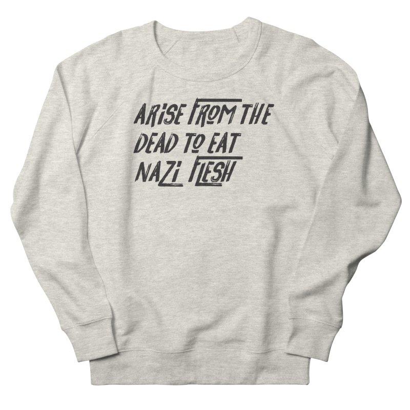 EAT NAZI FLESH Men's French Terry Sweatshirt by VOID MERCH