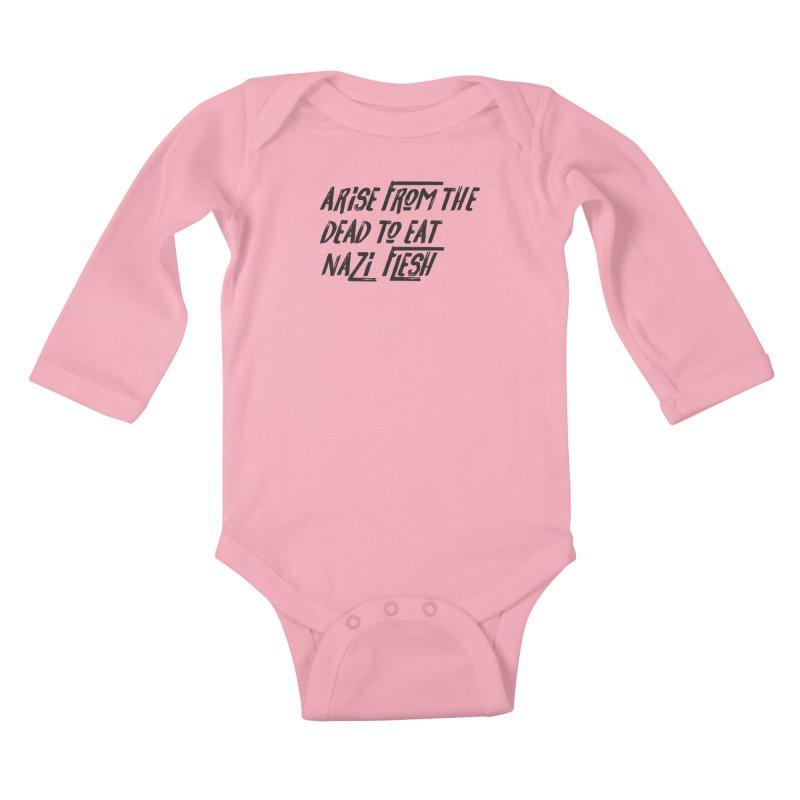 EAT NAZI FLESH Kids Baby Longsleeve Bodysuit by VOID MERCH