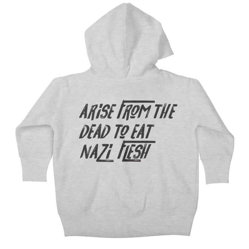 EAT NAZI FLESH Kids Baby Zip-Up Hoody by VOID MERCH