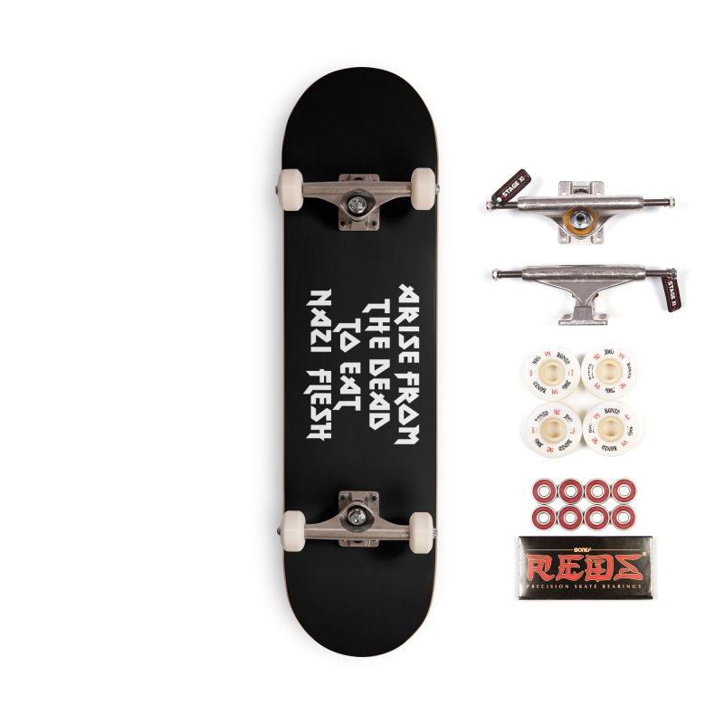 EAT NAZI FLESH (METAL) Lavin x Voidmerch Accessories Complete - Pro Skateboard by VOID MERCH