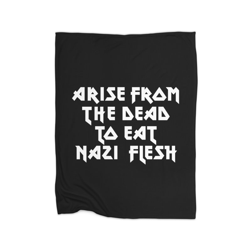 EAT NAZI FLESH (METAL) Lavin x Voidmerch Home Fleece Blanket Blanket by VOID MERCH