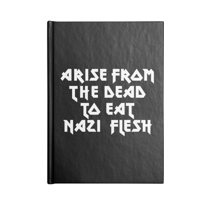 EAT NAZI FLESH (METAL) Lavin x Voidmerch Accessories Lined Journal Notebook by VOID MERCH