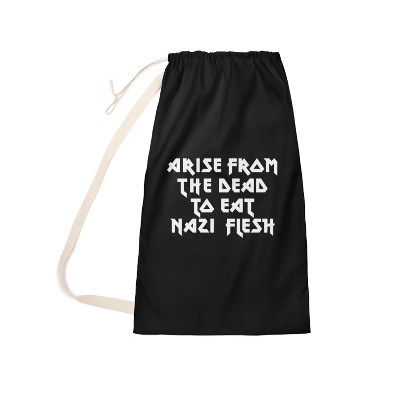 EAT NAZI FLESH (METAL) Lavin x Voidmerch Accessories Laundry Bag Bag by VOID MERCH