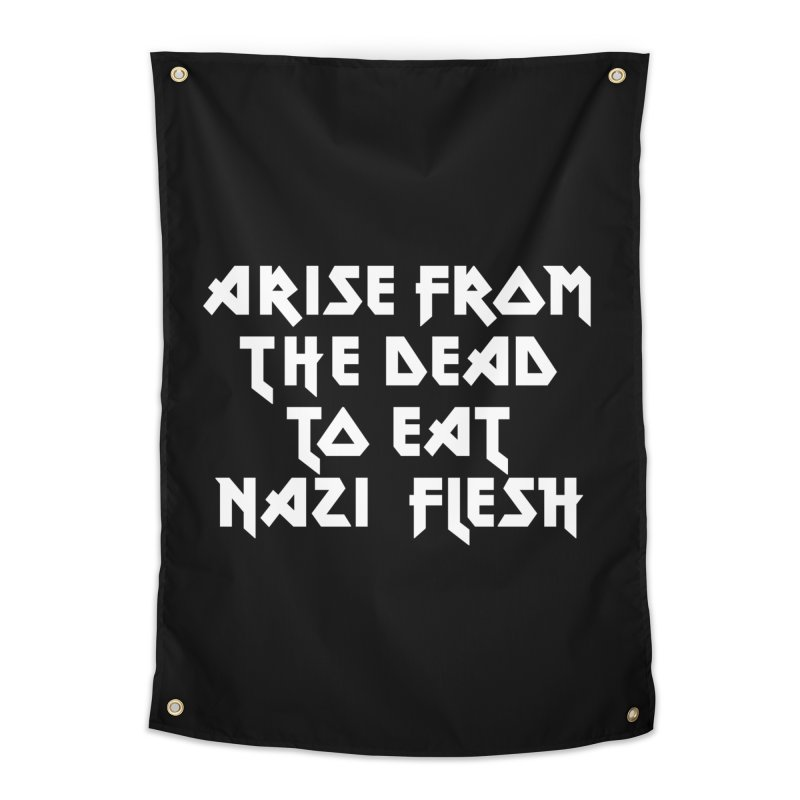 EAT NAZI FLESH (METAL) Lavin x Voidmerch Home Tapestry by VOID MERCH