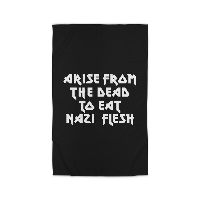 EAT NAZI FLESH (METAL) Lavin x Voidmerch Home Rug by VOID MERCH