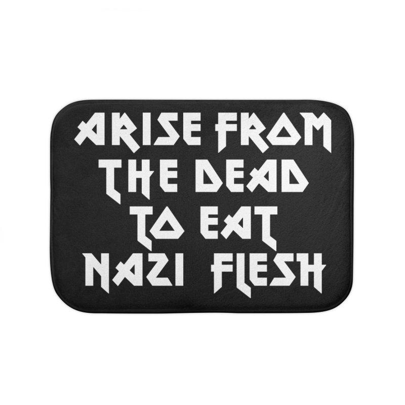 EAT NAZI FLESH (METAL) Lavin x Voidmerch Home Bath Mat by VOID MERCH