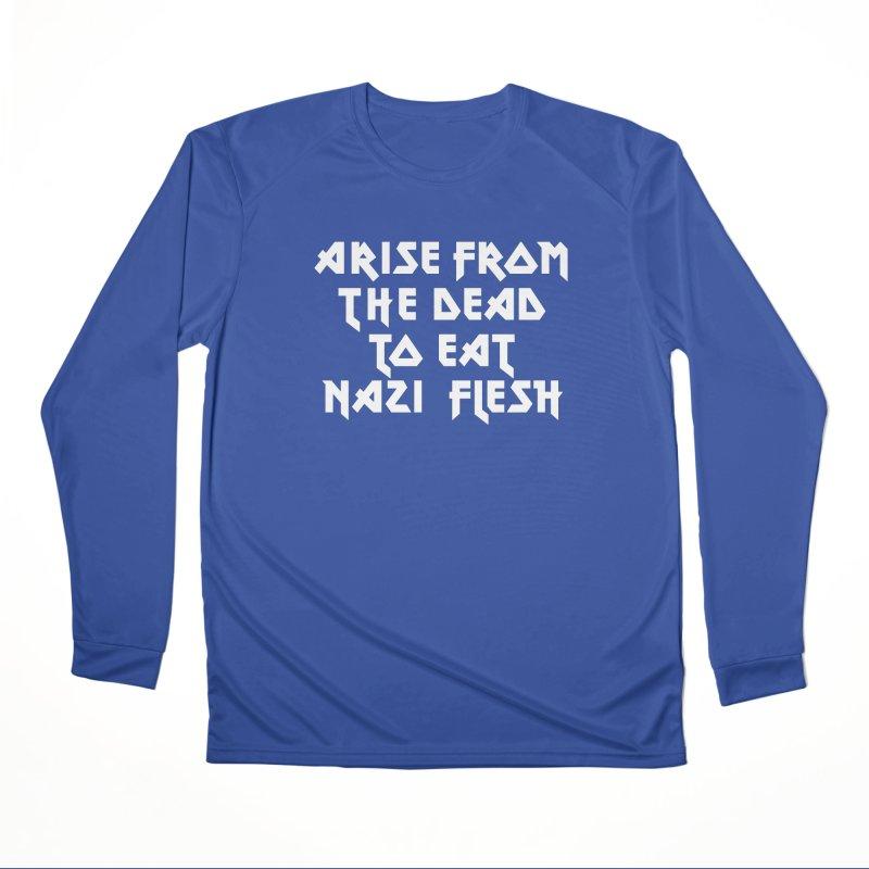 EAT NAZI FLESH (METAL) Lavin x Voidmerch Men's Performance Longsleeve T-Shirt by VOID MERCH