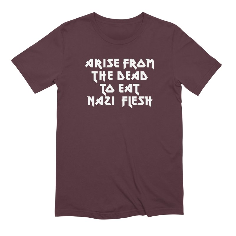 EAT NAZI FLESH (METAL) Lavin x Voidmerch Men's Extra Soft T-Shirt by VOID MERCH