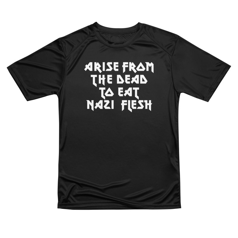 EAT NAZI FLESH (METAL) Lavin x Voidmerch Men's Performance T-Shirt by VOID MERCH
