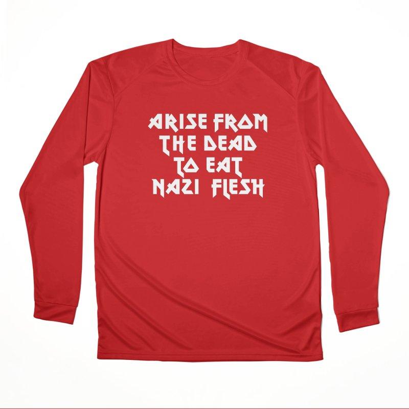 EAT NAZI FLESH (METAL) Lavin x Voidmerch Women's Performance Unisex Longsleeve T-Shirt by VOID MERCH