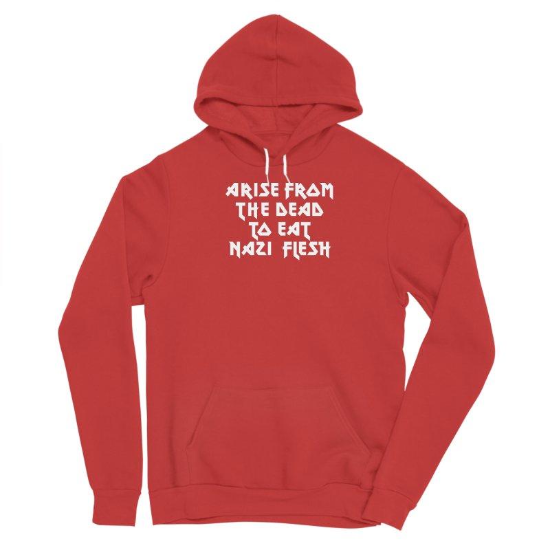 EAT NAZI FLESH (METAL) Lavin x Voidmerch Men's Sponge Fleece Pullover Hoody by VOID MERCH