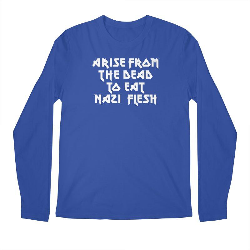 EAT NAZI FLESH (METAL) Lavin x Voidmerch Men's Regular Longsleeve T-Shirt by VOID MERCH