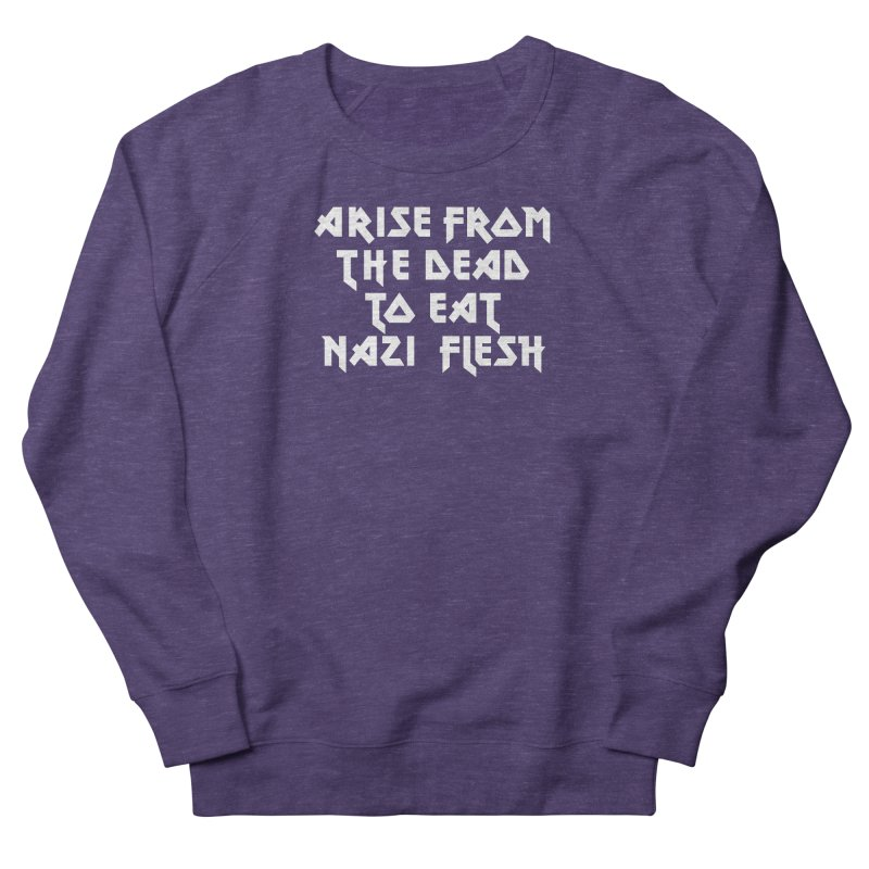 EAT NAZI FLESH (METAL) Lavin x Voidmerch Women's French Terry Sweatshirt by VOID MERCH