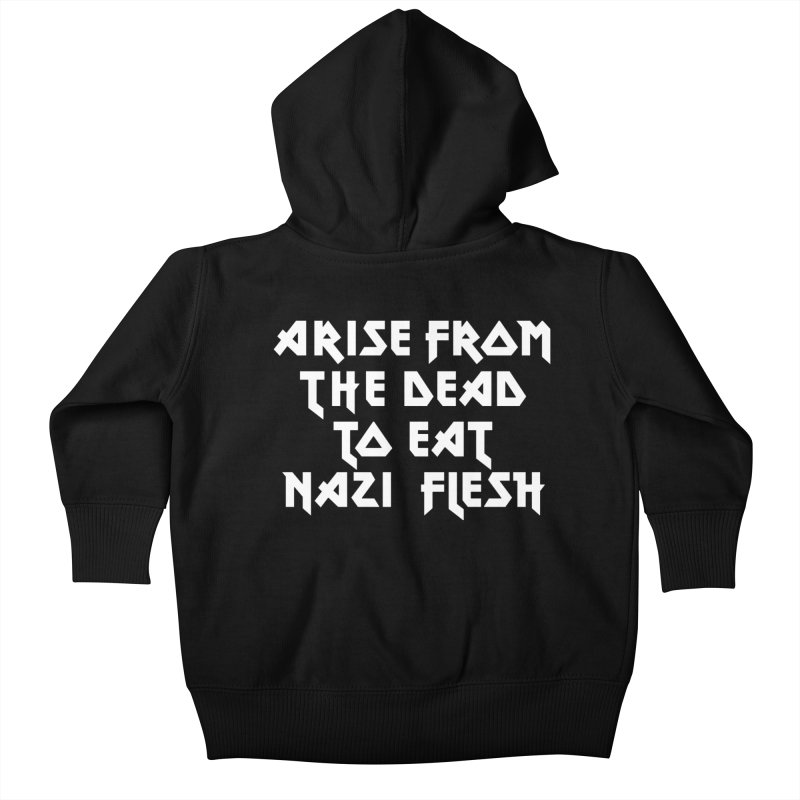EAT NAZI FLESH (METAL) Lavin x Voidmerch Kids Baby Zip-Up Hoody by VOID MERCH