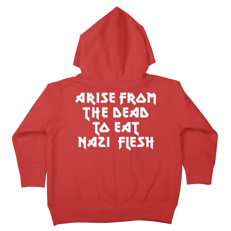 EAT NAZI FLESH (METAL) Lavin x Voidmerch Kids Toddler Zip-Up Hoody by VOID MERCH