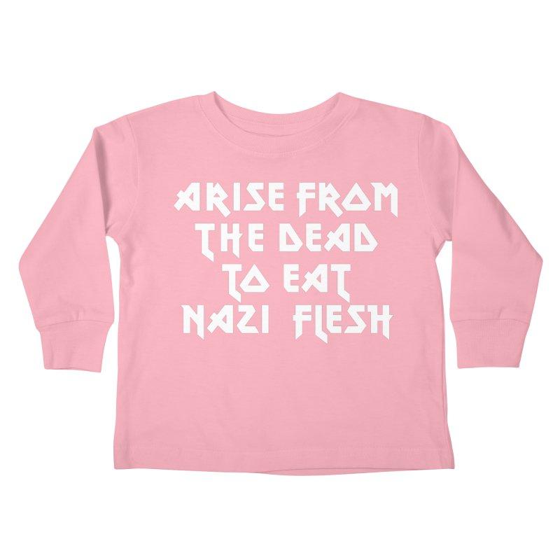EAT NAZI FLESH (METAL) Lavin x Voidmerch Kids Toddler Longsleeve T-Shirt by VOID MERCH