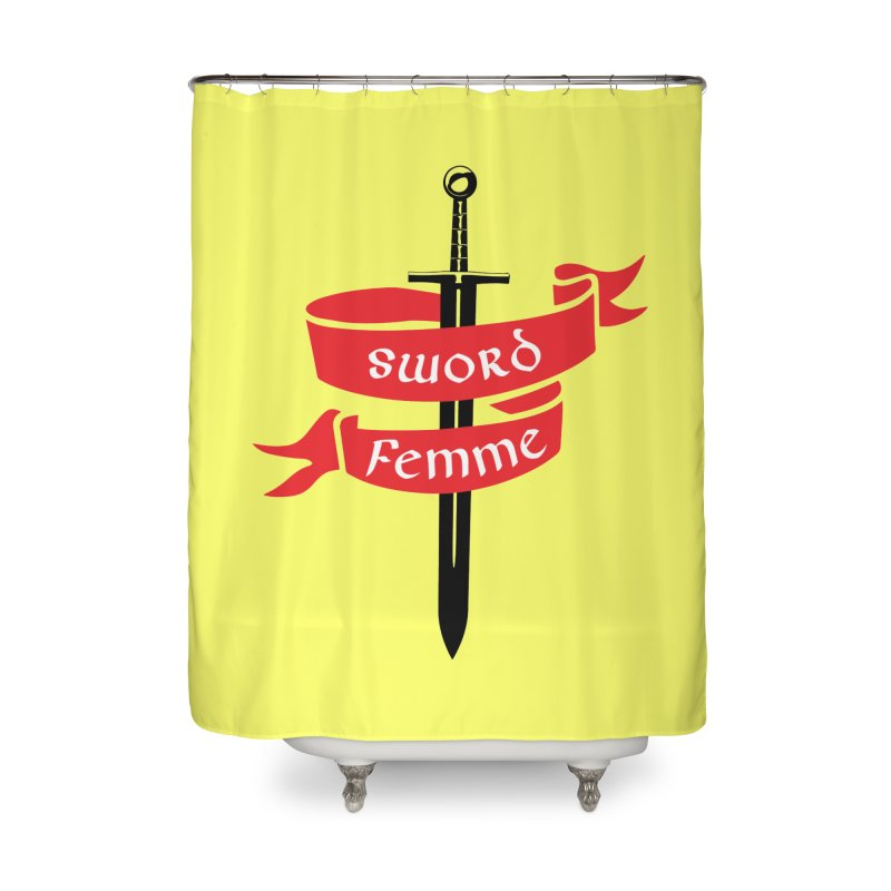 SWORD FEMME (Lavin x Voidmerch) Home Shower Curtain by VOID MERCH