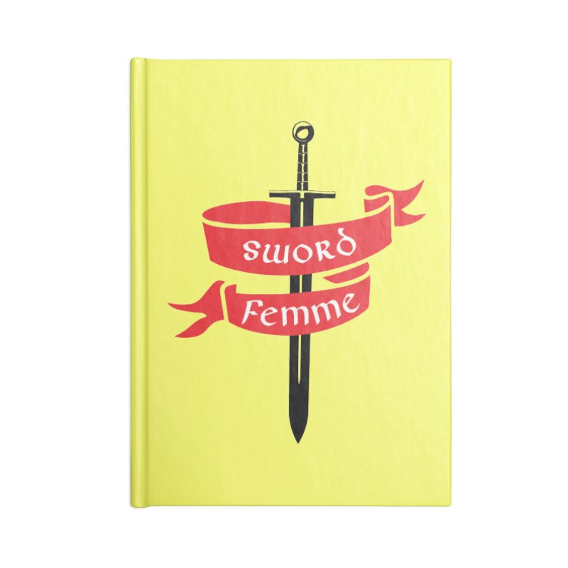 SWORD FEMME (Lavin x Voidmerch) Accessories Blank Journal Notebook by VOID MERCH