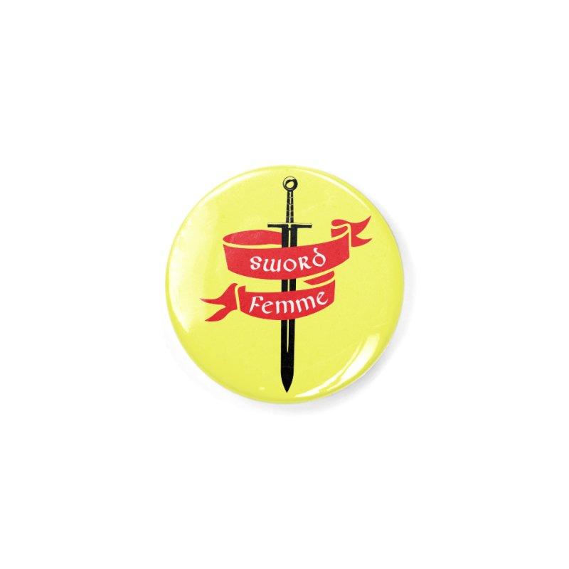 SWORD FEMME (Lavin x Voidmerch) Accessories Button by VOID MERCH