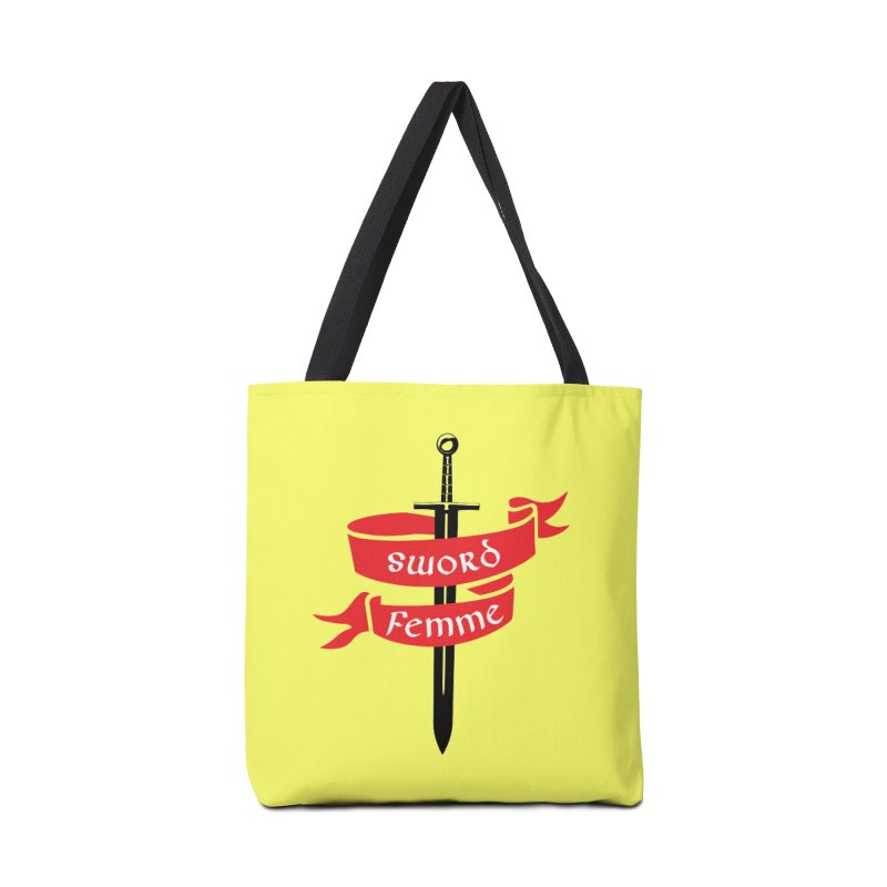 SWORD FEMME (Lavin x Voidmerch) Accessories Tote Bag Bag by VOID MERCH