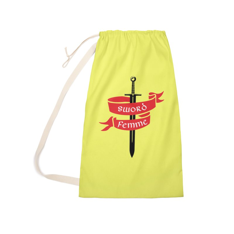 SWORD FEMME (Lavin x Voidmerch) Accessories Laundry Bag Bag by VOID MERCH