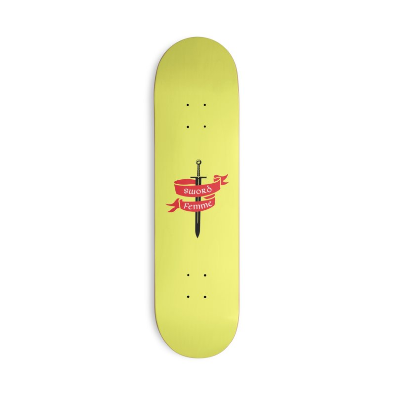 SWORD FEMME (Lavin x Voidmerch) Accessories Deck Only Skateboard by VOID MERCH