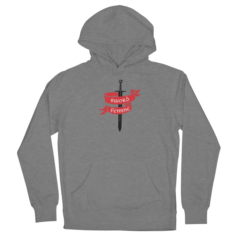 SWORD FEMME (Lavin x Voidmerch) Women's French Terry Pullover Hoody by VOID MERCH