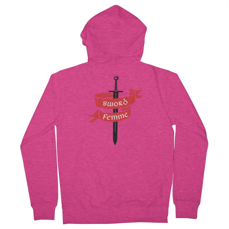 SWORD FEMME (Lavin x Voidmerch) Women's French Terry Zip-Up Hoody by VOID MERCH