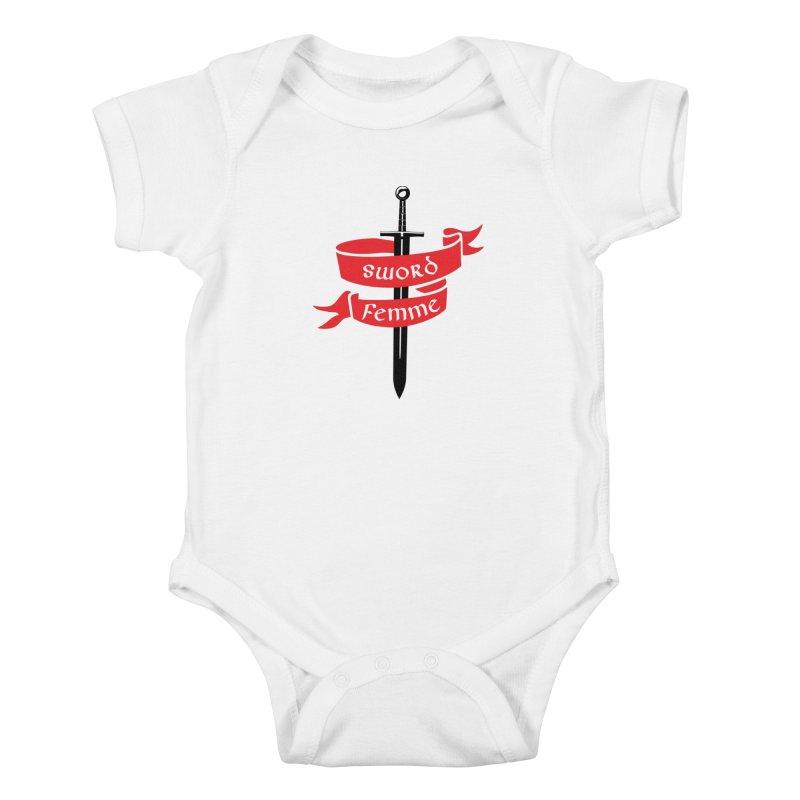 SWORD FEMME (Lavin x Voidmerch) Kids Baby Bodysuit by VOID MERCH