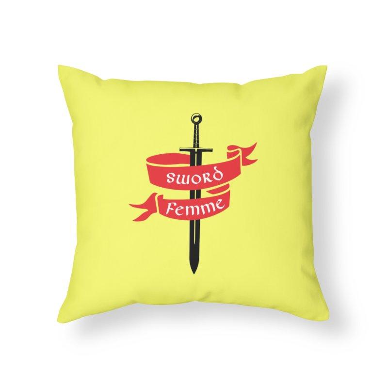 SWORD FEMME (Lavin x Voidmerch) Home Throw Pillow by VOID MERCH