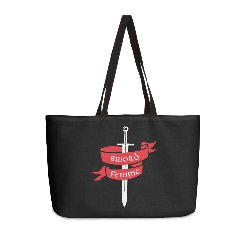 SWORD FEMME (Lavin x Voidmerch) Accessories Weekender Bag Bag by VOID MERCH