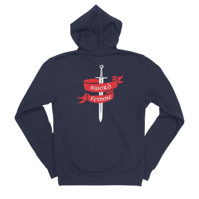 SWORD FEMME (Lavin x Voidmerch) Men's Sponge Fleece Zip-Up Hoody by VOID MERCH
