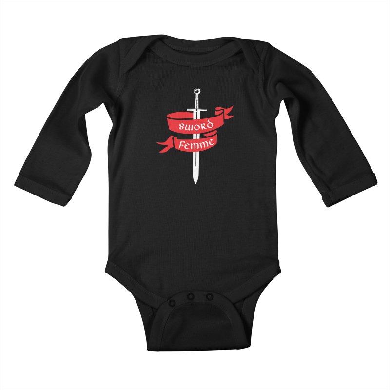 SWORD FEMME (Lavin x Voidmerch) Kids Baby Longsleeve Bodysuit by VOID MERCH