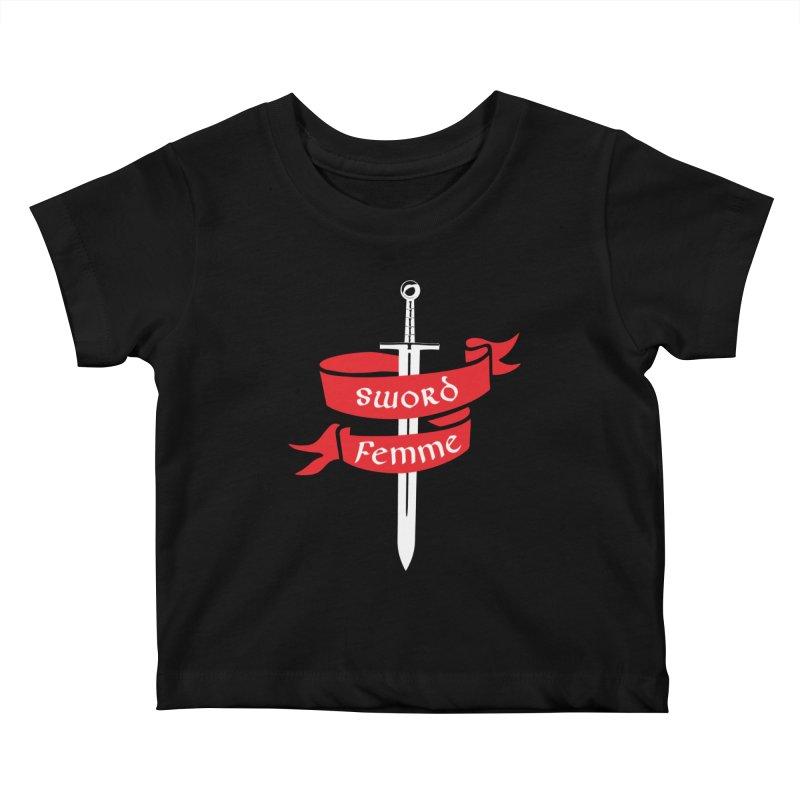 SWORD FEMME (Lavin x Voidmerch) Kids Baby T-Shirt by VOID MERCH