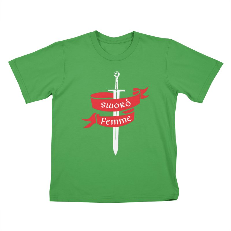 SWORD FEMME (Lavin x Voidmerch) Kids T-Shirt by VOID MERCH