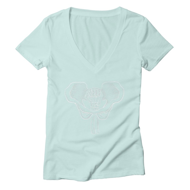 FIST (Lacour x Voidmerch) wht Women's Deep V-Neck V-Neck by VOID MERCH