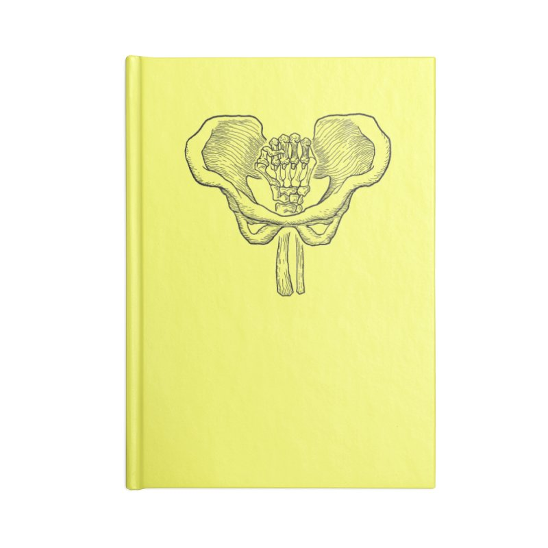 FIST (Lacour x Voidmerch) blk Accessories Lined Journal Notebook by VOID MERCH