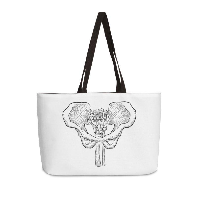 FIST (Lacour x Voidmerch) blk Accessories Weekender Bag Bag by VOID MERCH