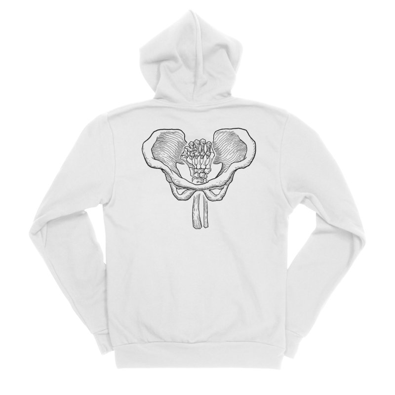 FIST (Lacour x Voidmerch) blk Men's Sponge Fleece Zip-Up Hoody by VOID MERCH