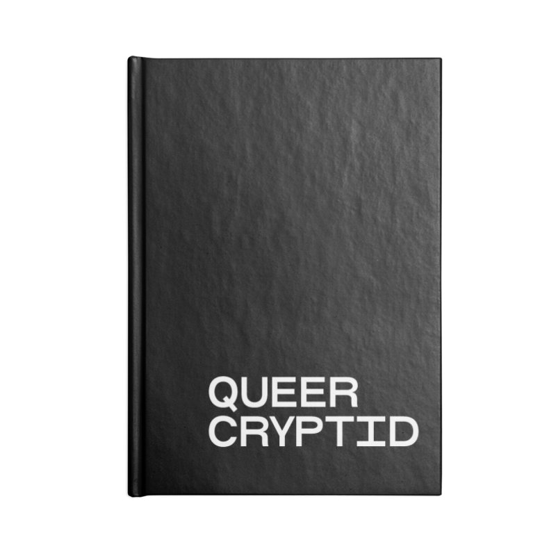 Queer Cryptid (sans) wht Accessories Lined Journal Notebook by VOID MERCH